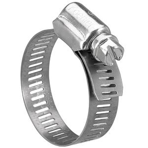 "Hose Clamp 1/4"" Stainless Steel"