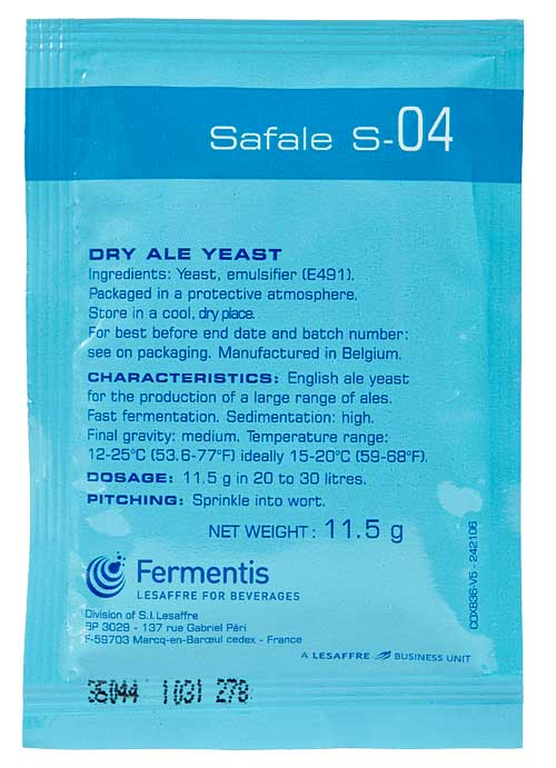 S-04 - ENGLISH ALE YEAST