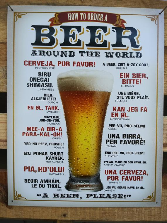 Sign - Beer Around The World