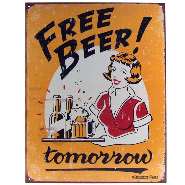 Sign - Free Beer Tomorrow
