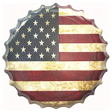 Sign - Us Flag Bottle Cap