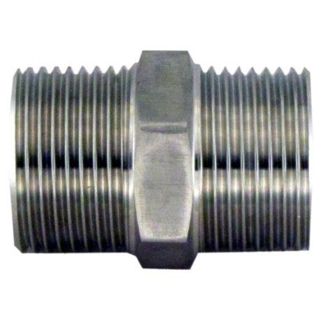 Stainless Steel Hex Nipple 0.5