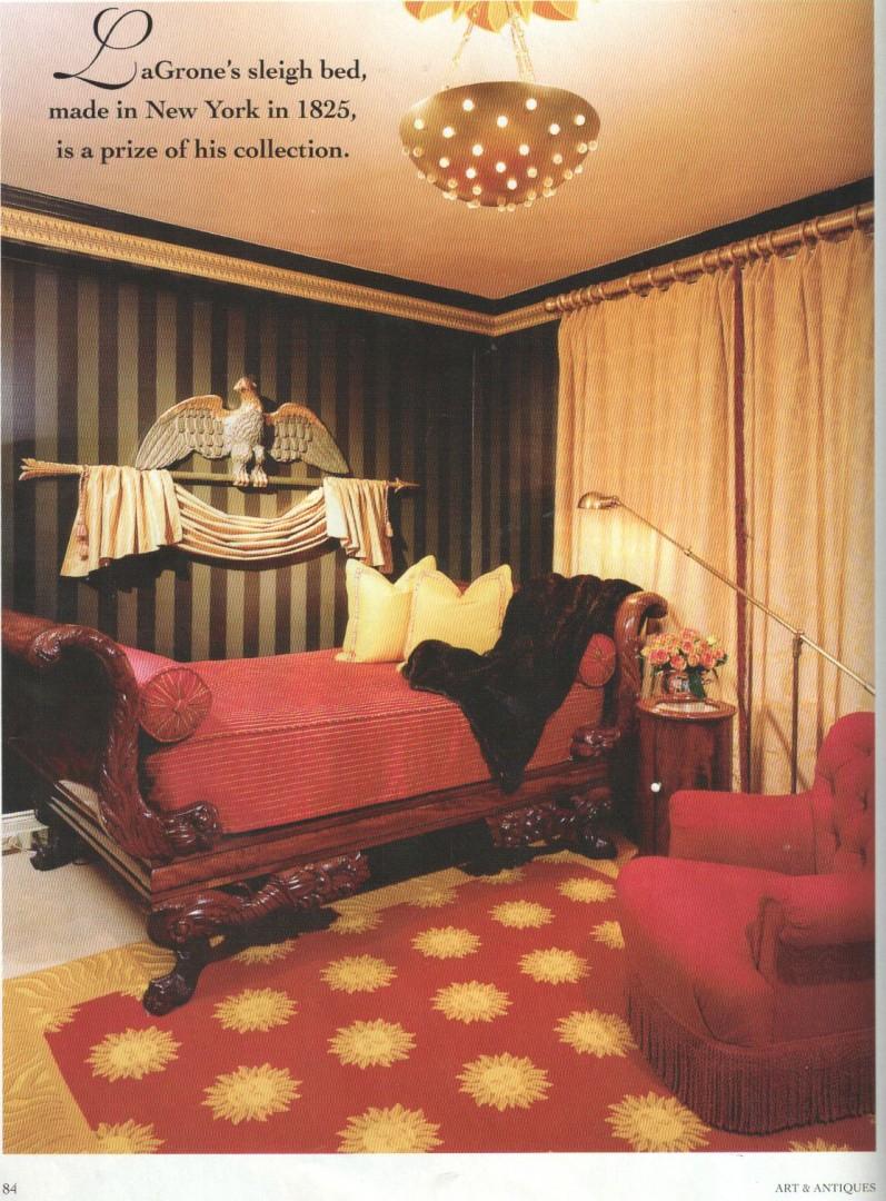 Lot 98: Classical Mahogany Bedstead, New York