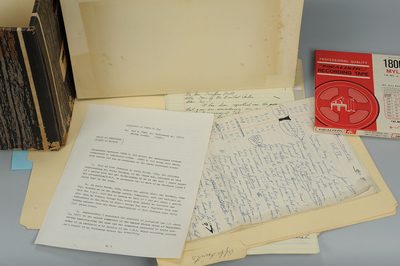 Lot 664: James Earl Ray / Jack Kershaw Archive, MLK Assassi