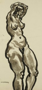 Lot 183: Joseph Delaney Watercolor Nude