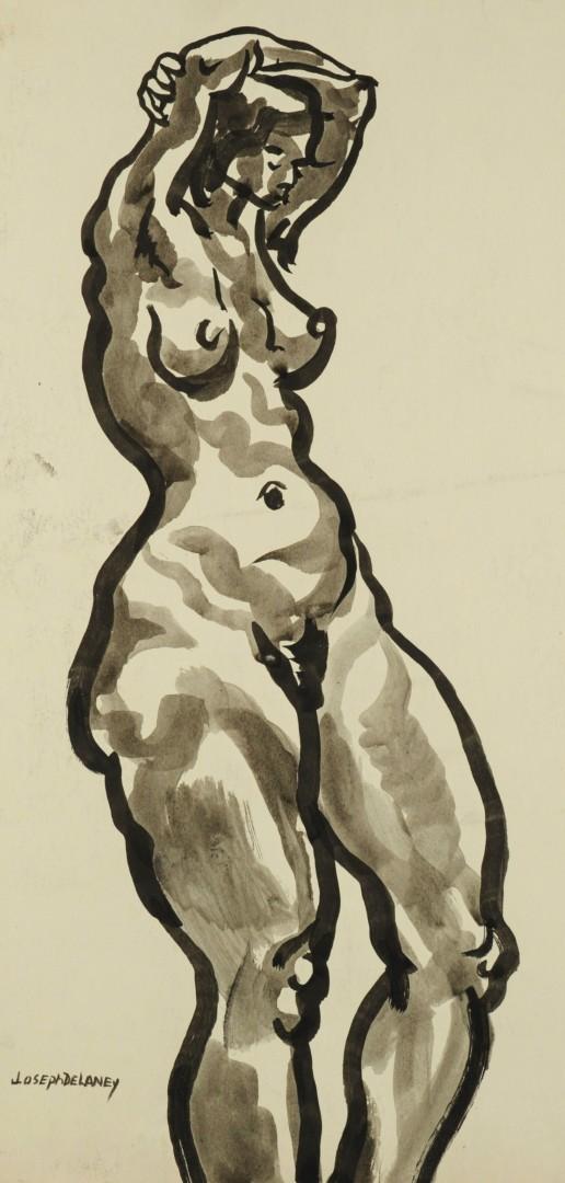 Lot 183: Joseph Delaney Watercolor Nude