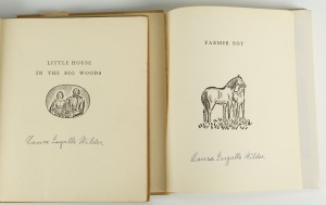 "Lot 348: 2 signed Laura Ingalls Wilder ""Little House"" books"