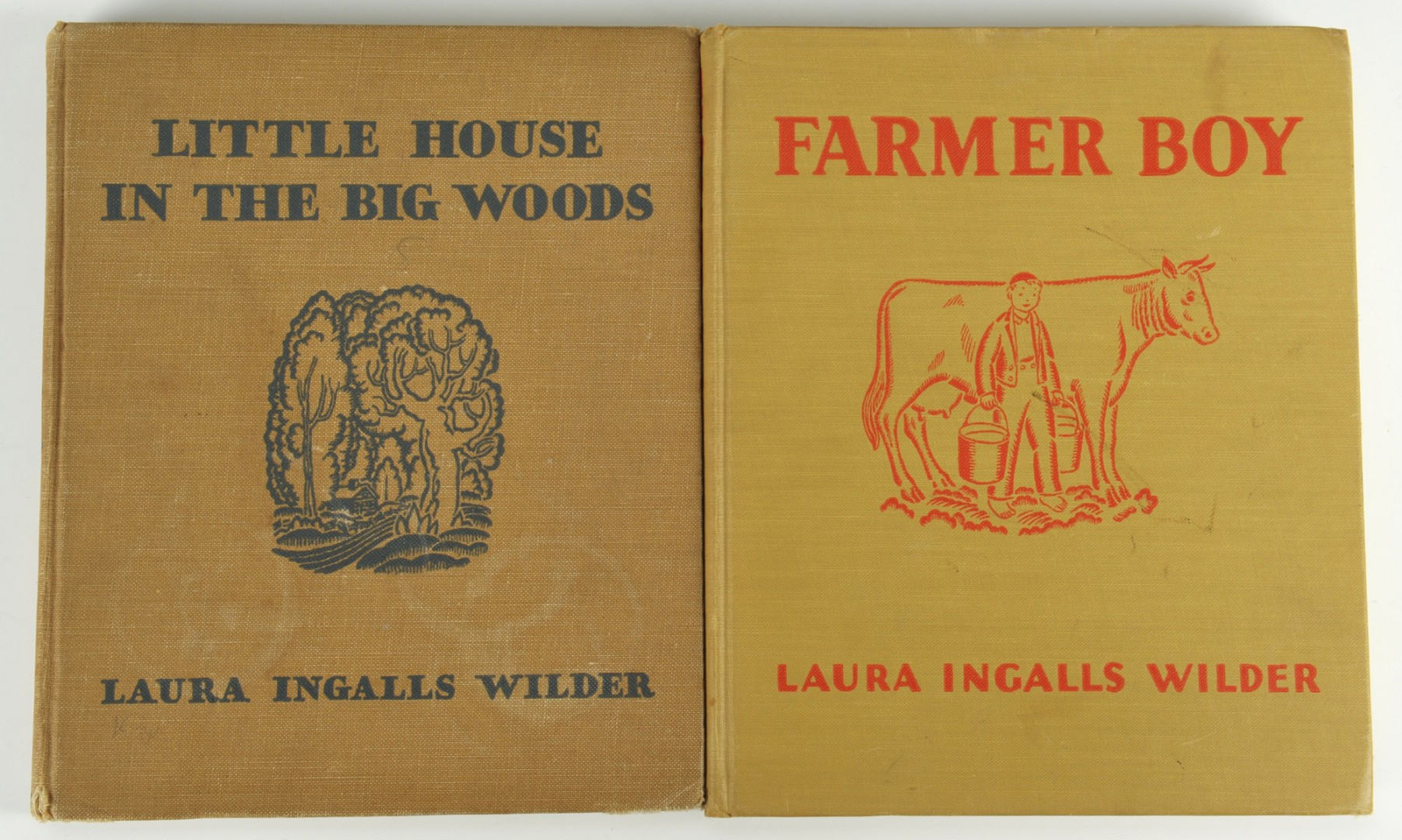 """Lot 348: 2 signed Laura Ingalls Wilder """"Little House"""" books"""
