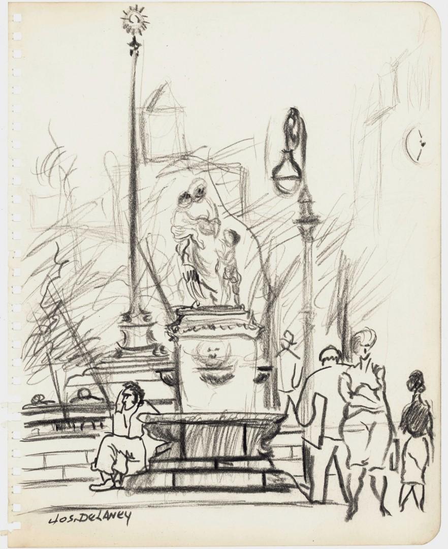 Lot 178: 3 Joseph Delaney New York City Sketches