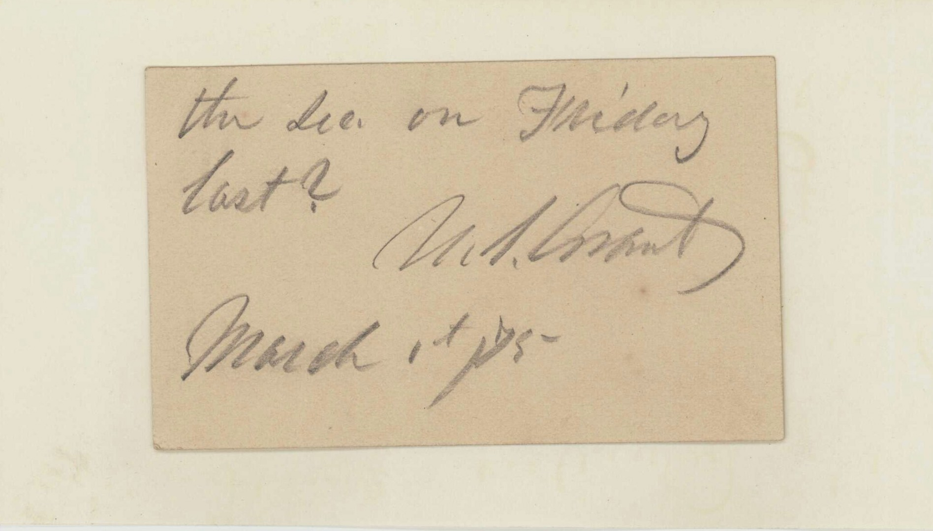 Lot 83: Ulysses S. Grant Signed Note & 3 others