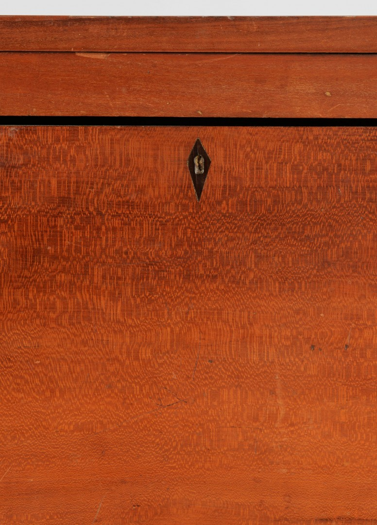 Lot 334: Sheraton Cherry Chest of Drawers