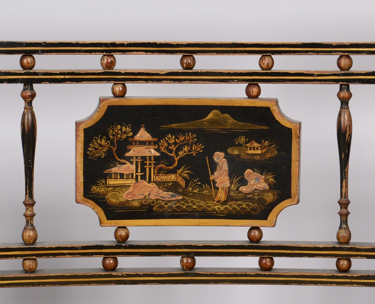 Lot 47: Regency Chinoiserie settee and 2 chairs, early