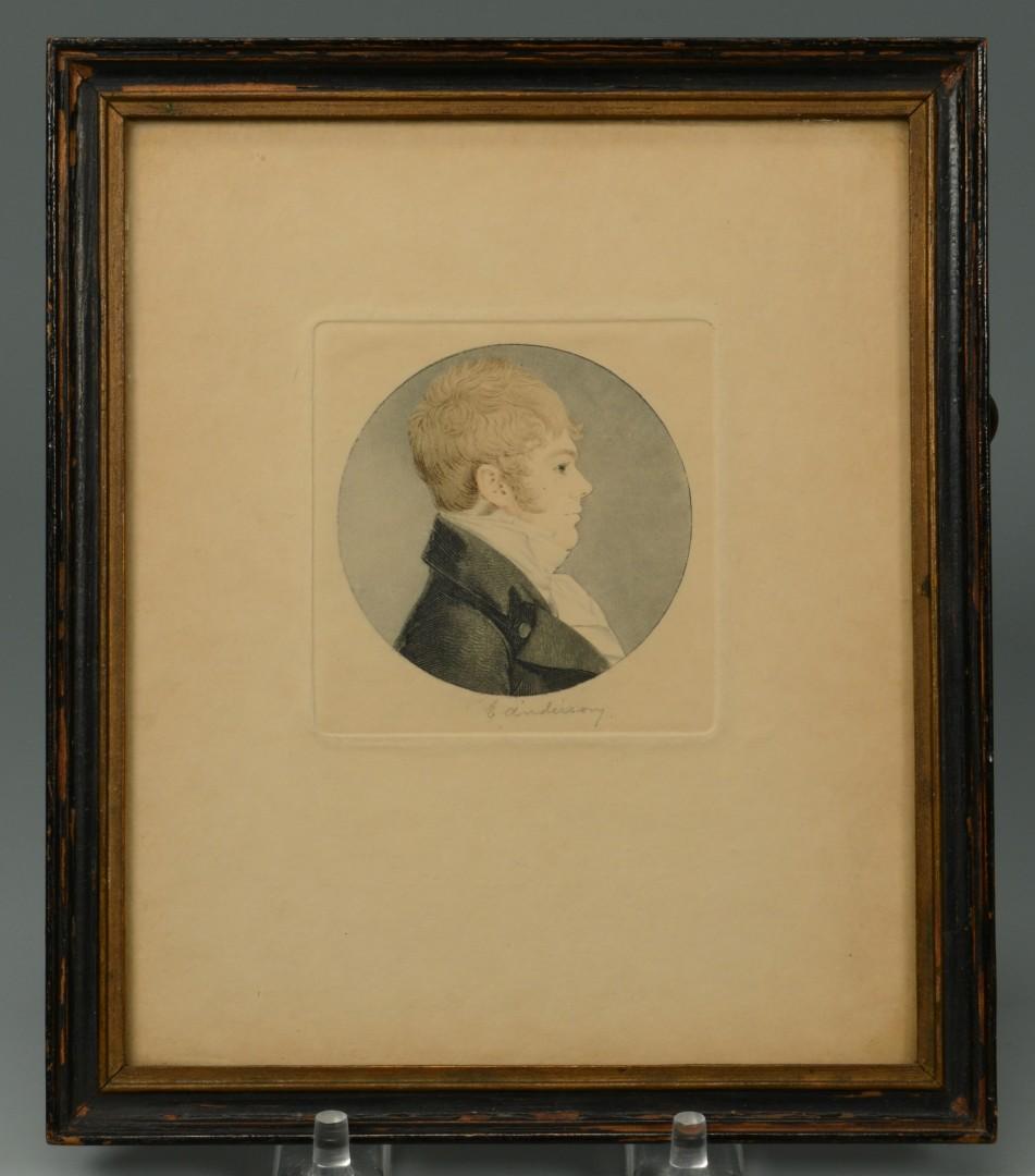 Lot 87: 2 Miniature portraits of gentlemen, signed