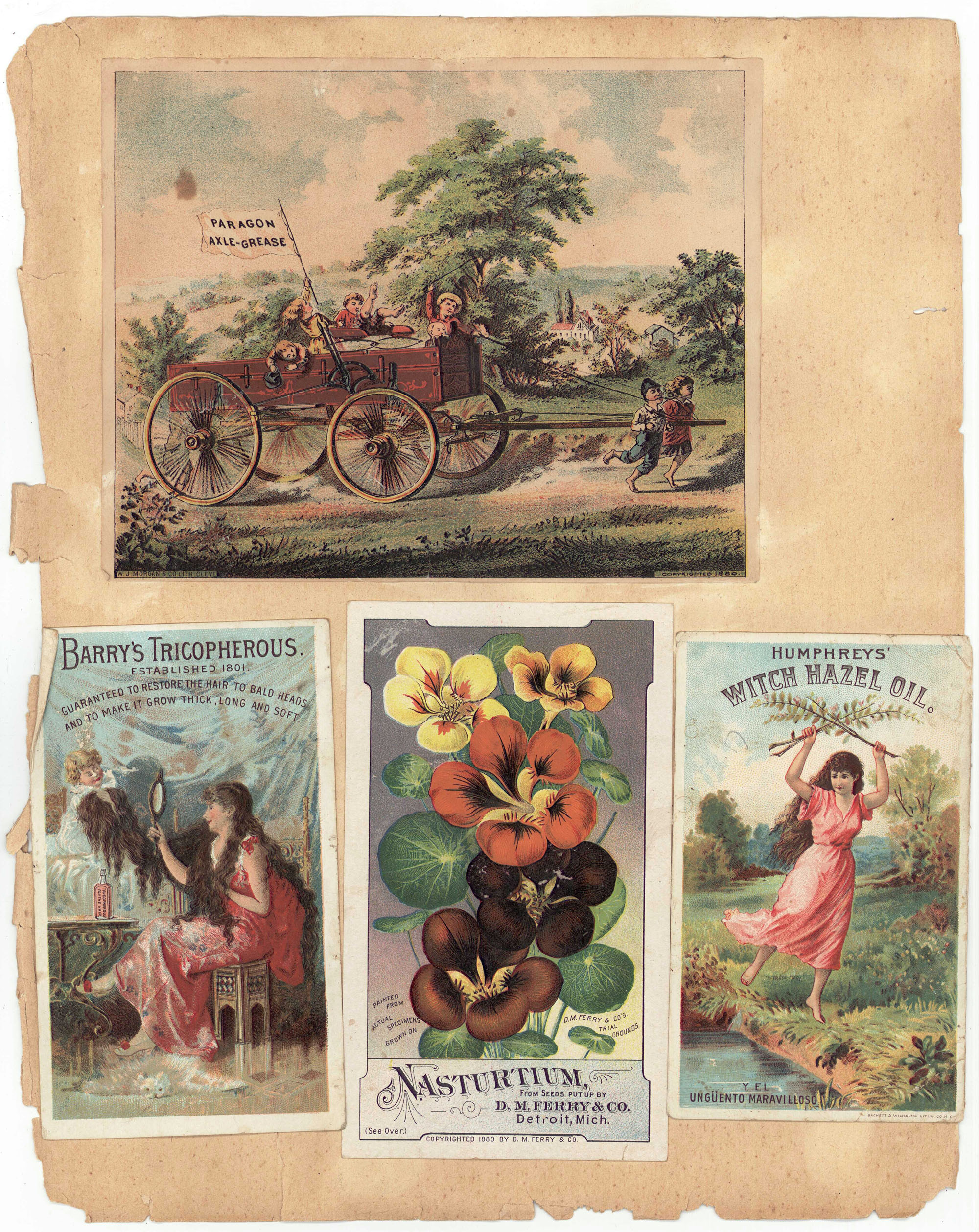 Lot 700 Victorian Scrapbook With Vintage Ads Tn Interest