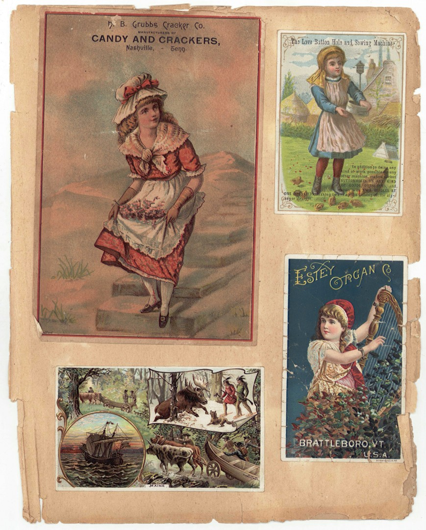 Lot 700: Victorian Scrapbook with Vintage Ads, TN Interest