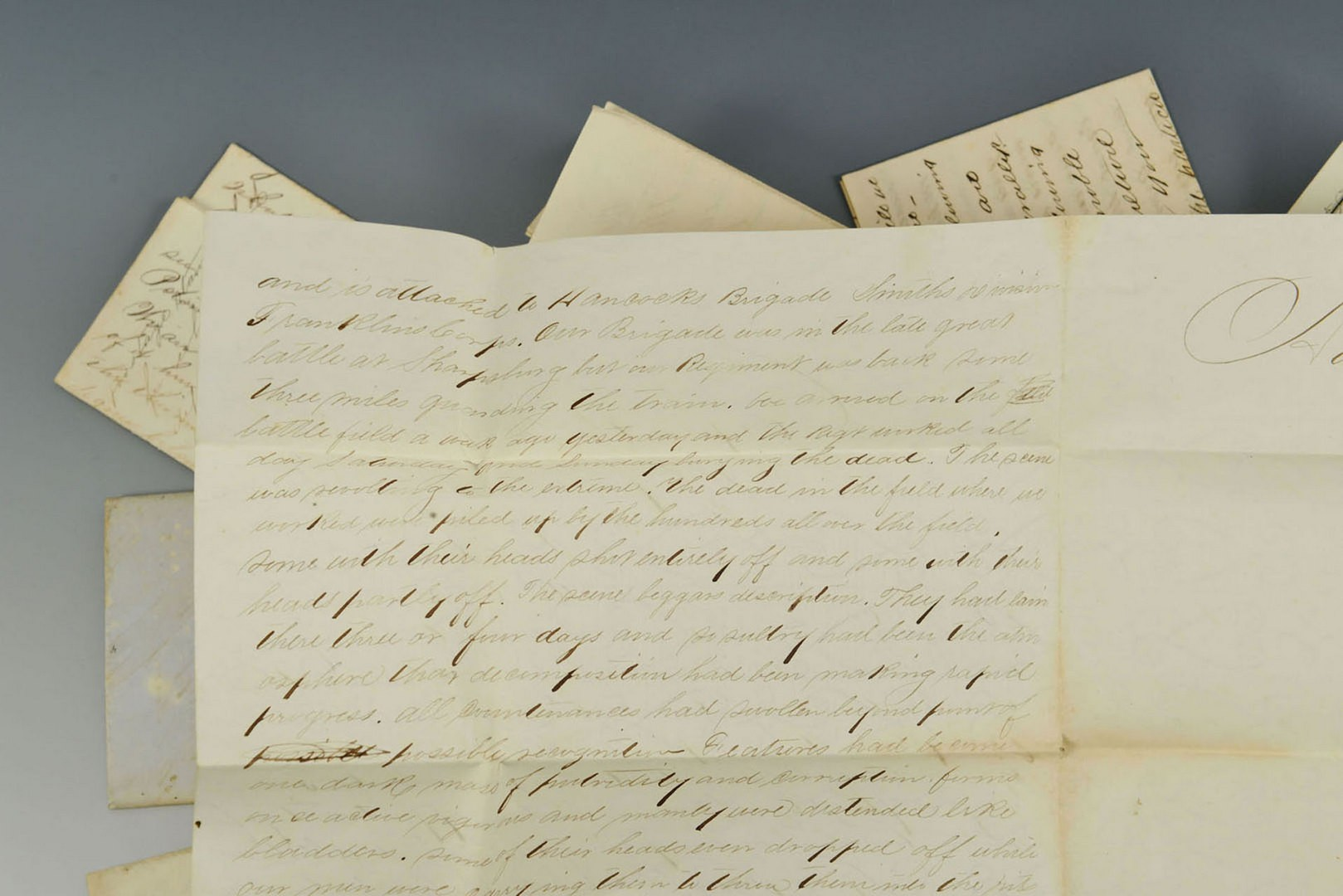 Lot 126: Grouping of Civil War letters including Antietam b