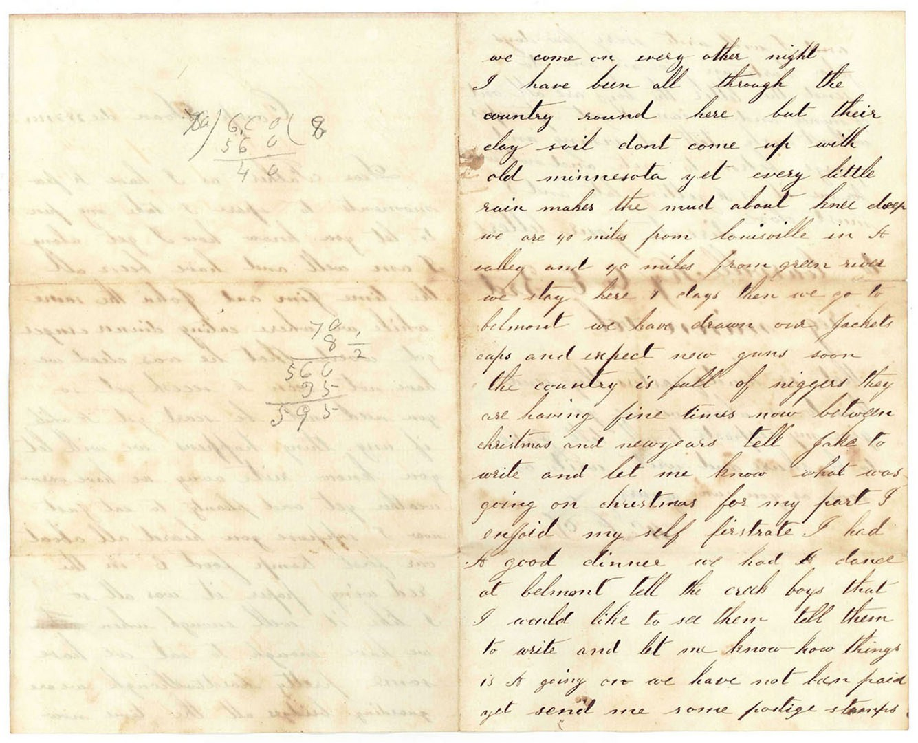 Lot 127: Large Civil War Archive of Letters, 3rd Regiment M