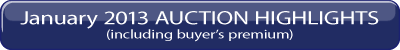 January 26, 2013 Auction Highlights