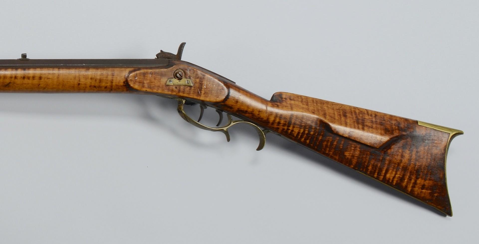 Lot 396: Kentucky Percussion Rifle, Full Stock
