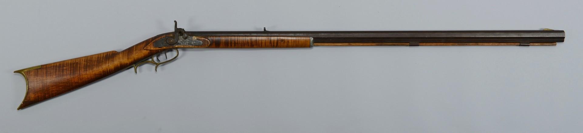 Lot 398: Half Stock Percussion Rifle