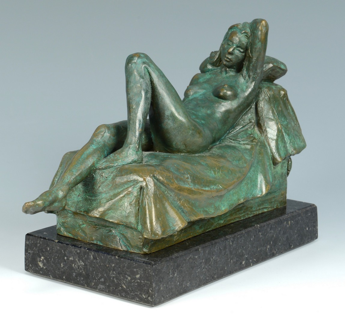 Lot 845: Alan LeQuire bronze, reclining nude