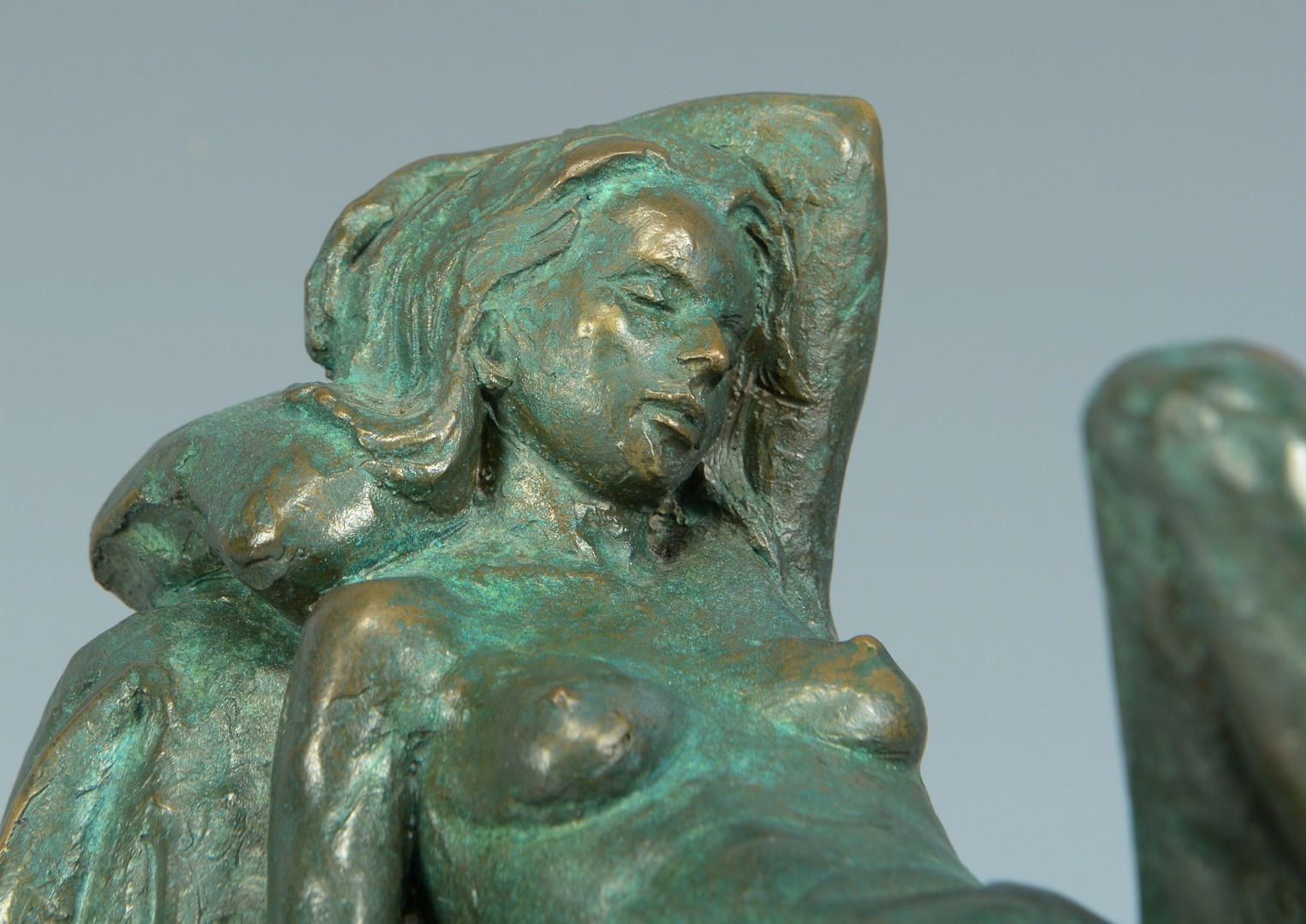 Lot 845: Alan LeQuire bronze, reclining nude