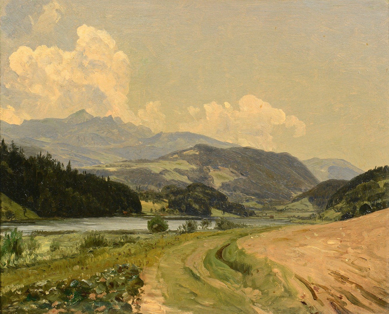 Lot 195: Attr. Thomas W. Whittredge Oil on Canvas Landscape
