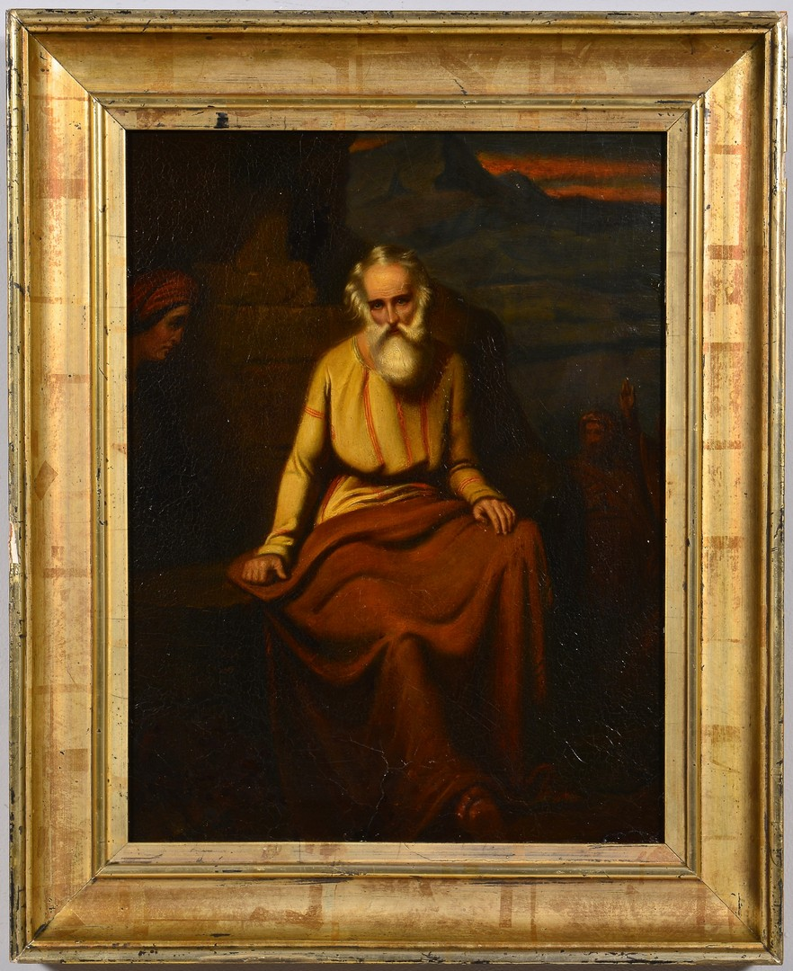 Lot 219: Oil on Panel Religious Painting