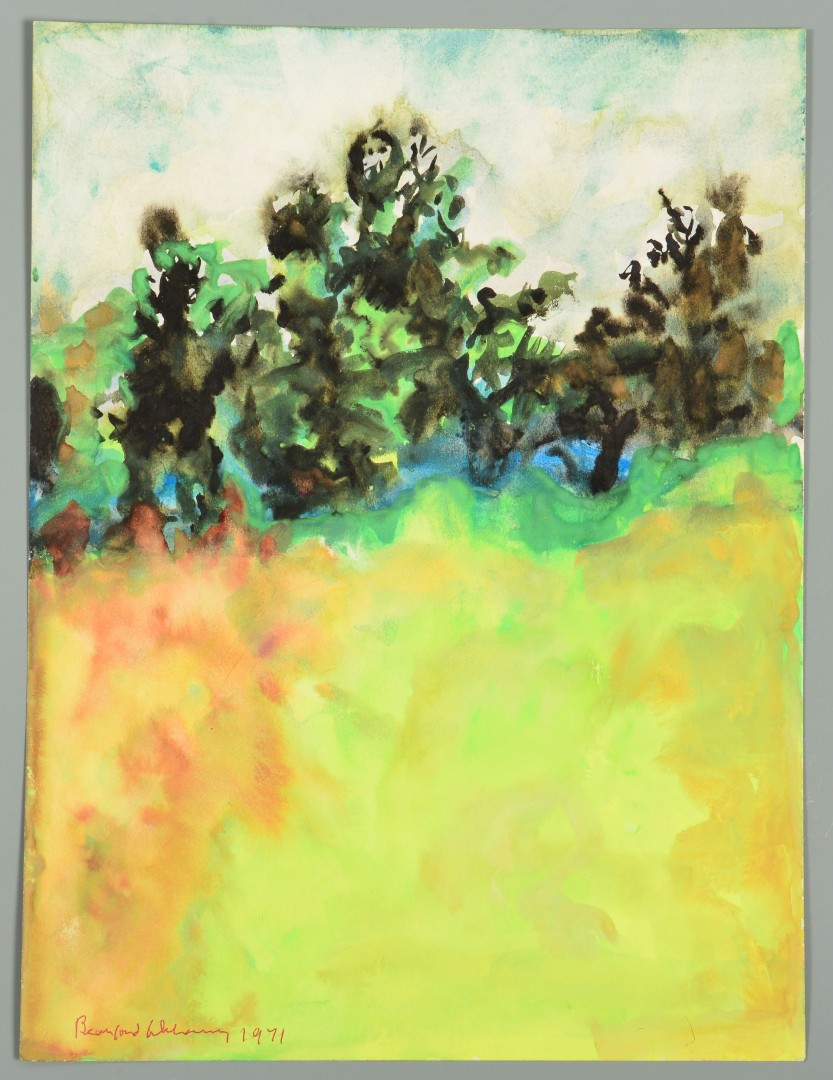 Lot 437: Beauford Delaney Estate, W/C Landscape