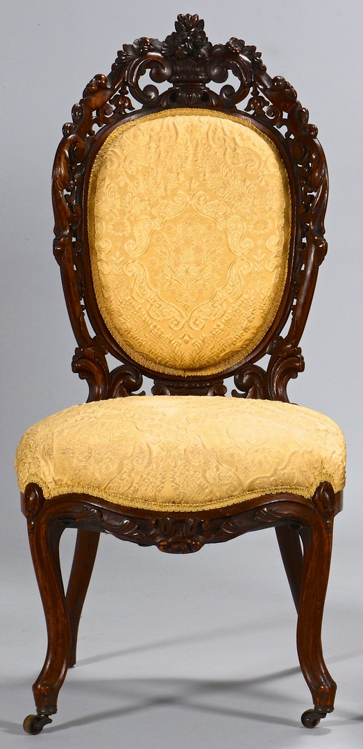 Lot 736: 2 Victorian Laminated Rosewood Chairs