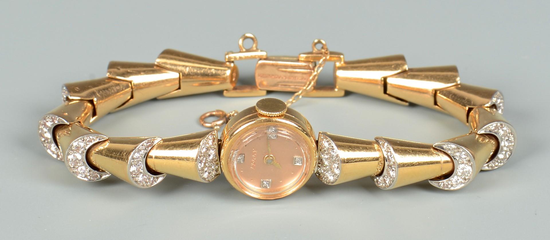 Lot 79: George Headley 18K Gold & Diamond Watch