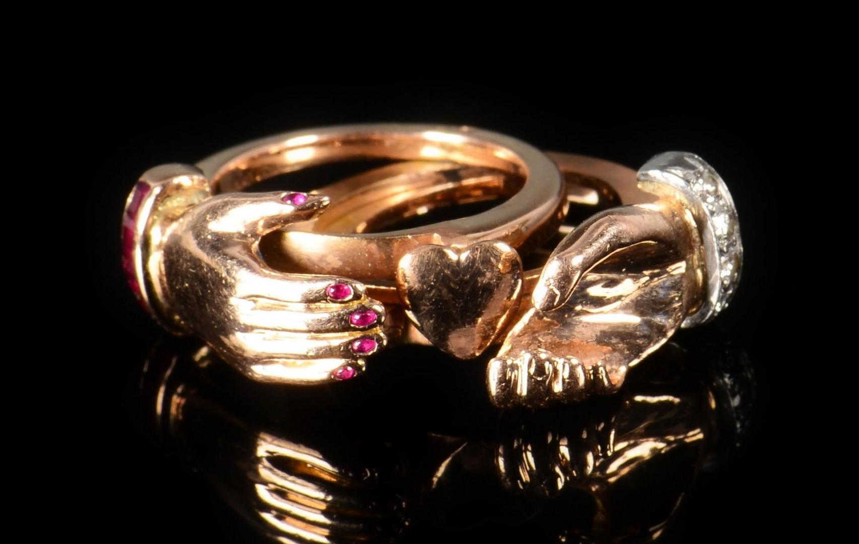 Lot 81: George Headley Handshake Ring