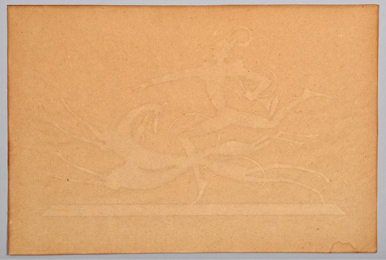 Lot 199: W. Hunt Diederich Silhouette, 2 Hounds w/ Bugler