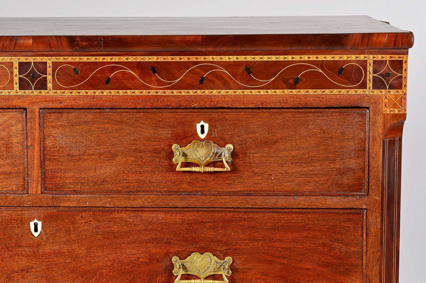 Lot 314: Neoclassical Inlaid Chest or Bureau