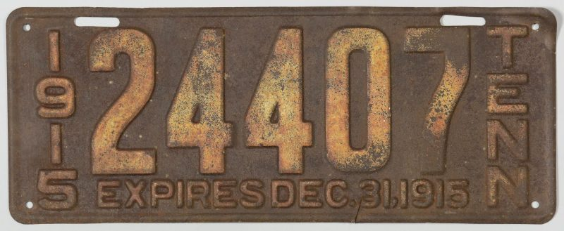 early license plate