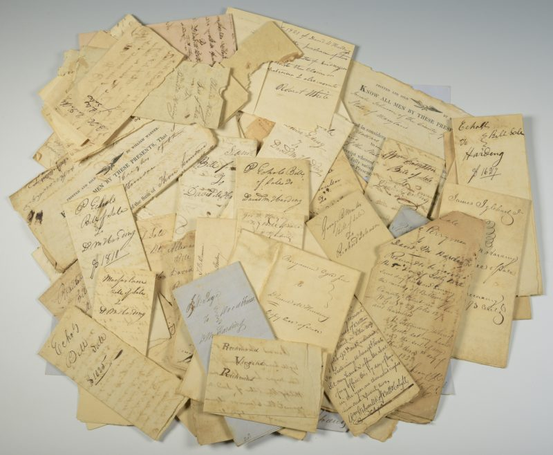 Lot 241: Slave Archive incl. 68 bills of sale