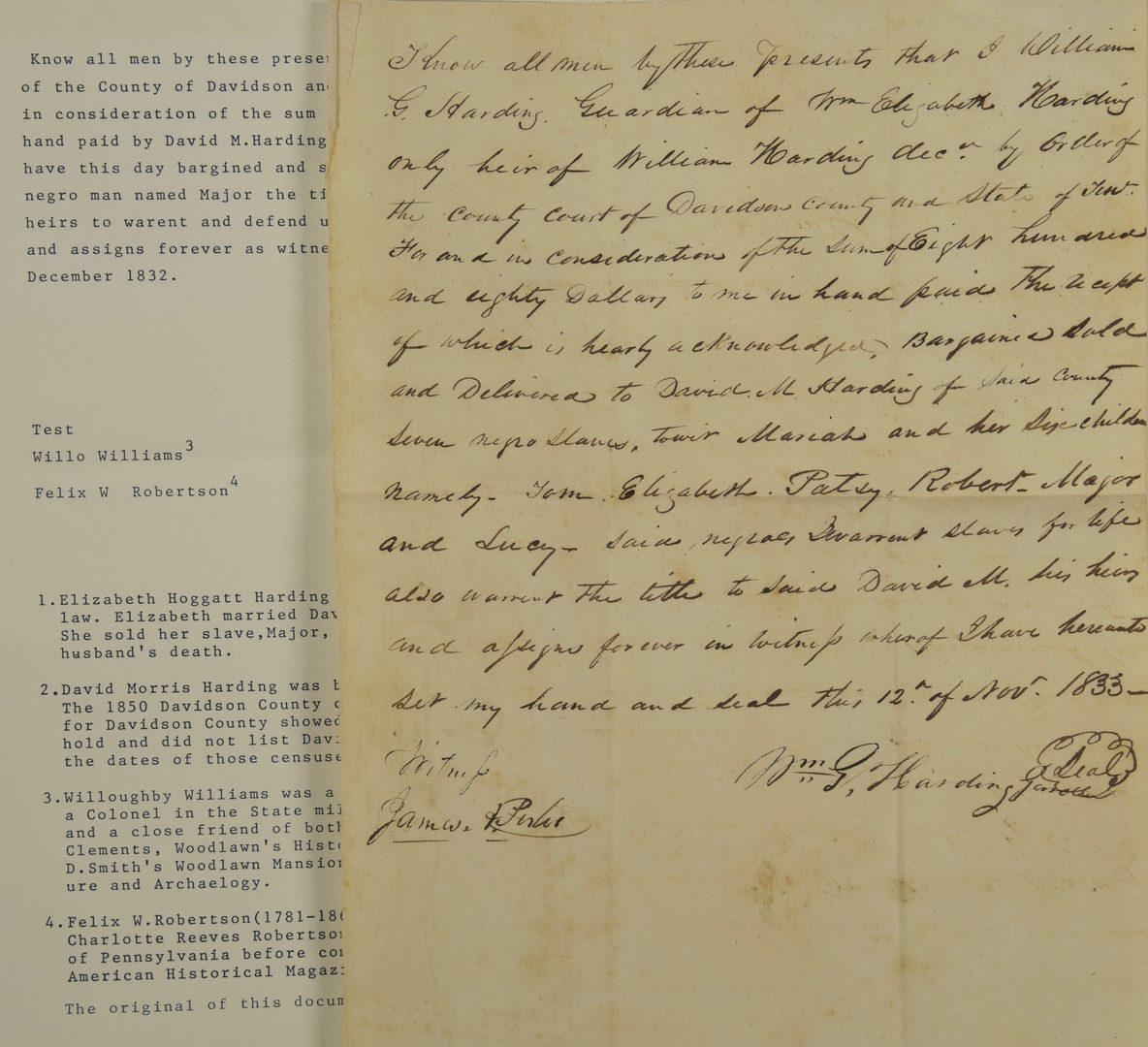 Lot 241: Slave Archive incl. 68 bills of sale