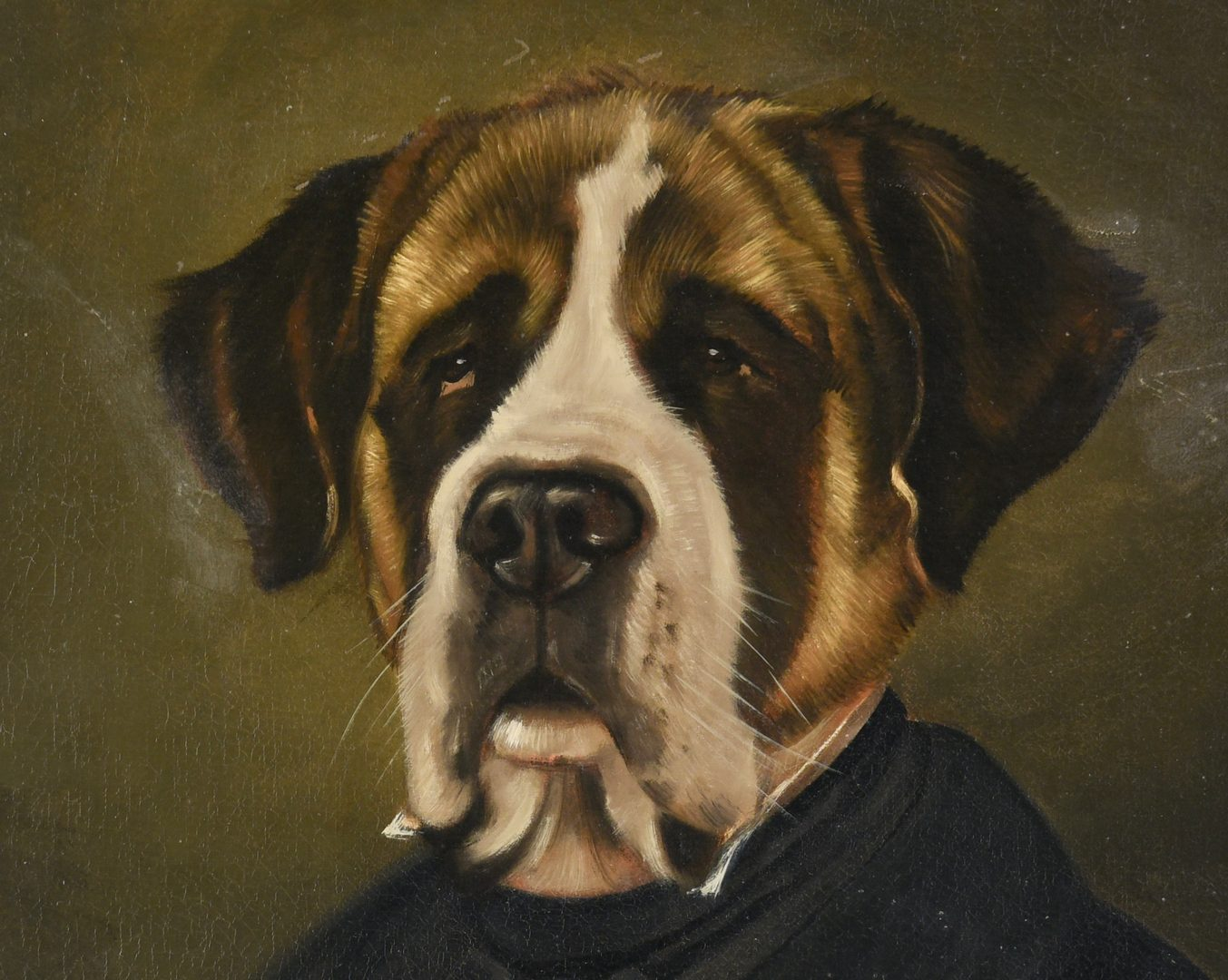 Lot 665: Thierry Poncelet O/C Dog in Suit