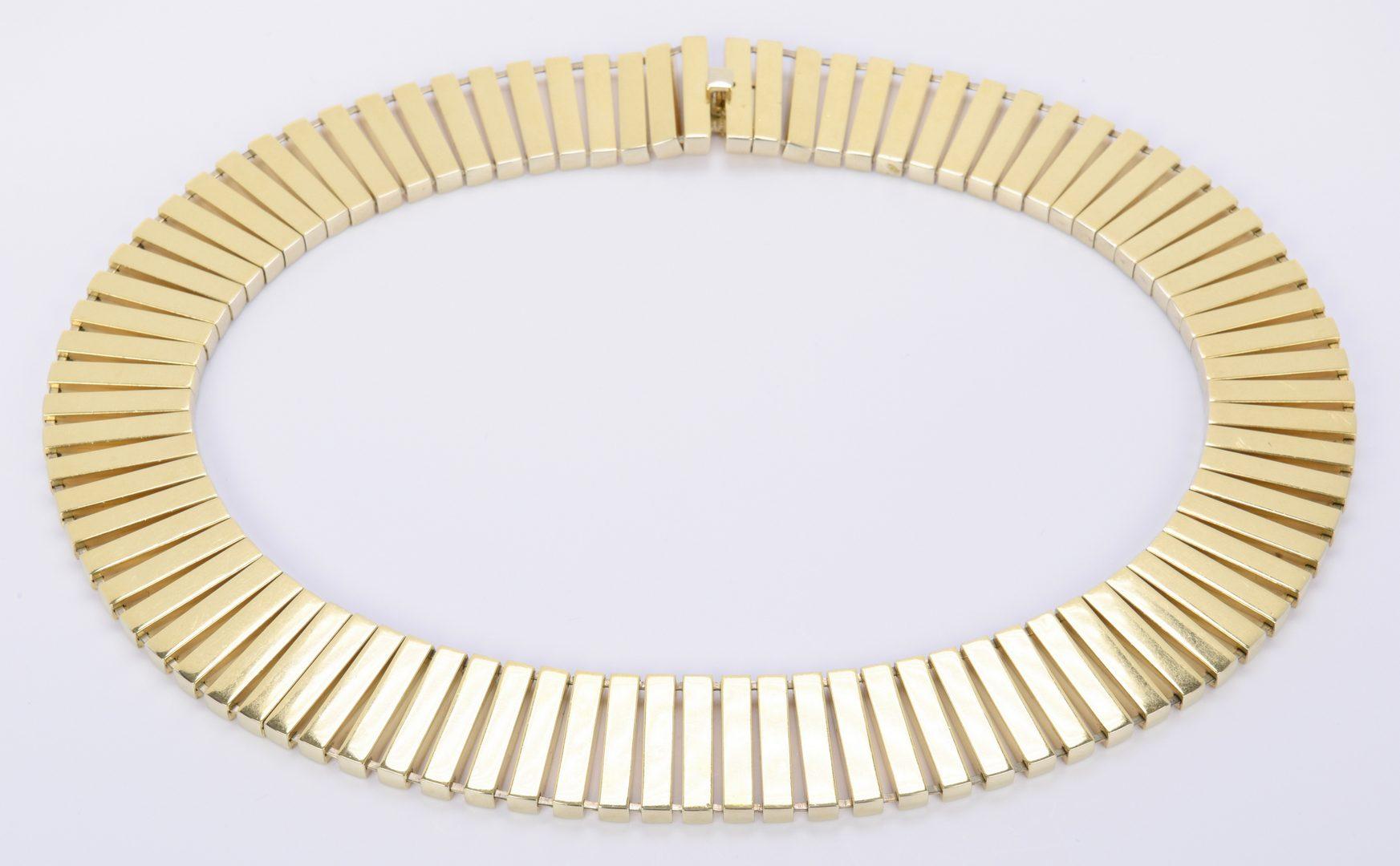 Lot 68: 18K Italian Choker Necklace, 119.7 grams