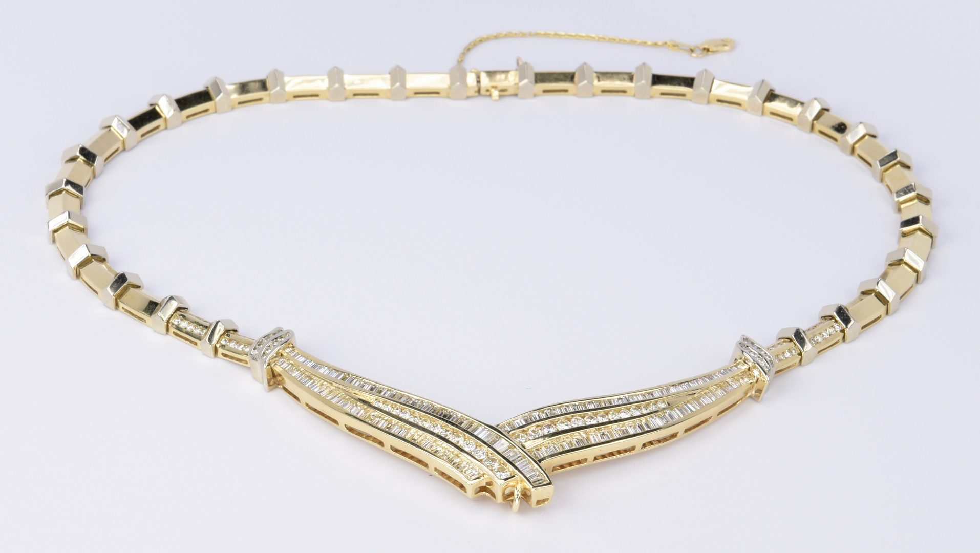 Lot 73: 14K Diamond Collar Necklace