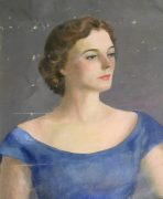 Portrait of Sarah Hunter Hicks Green (lot 253)