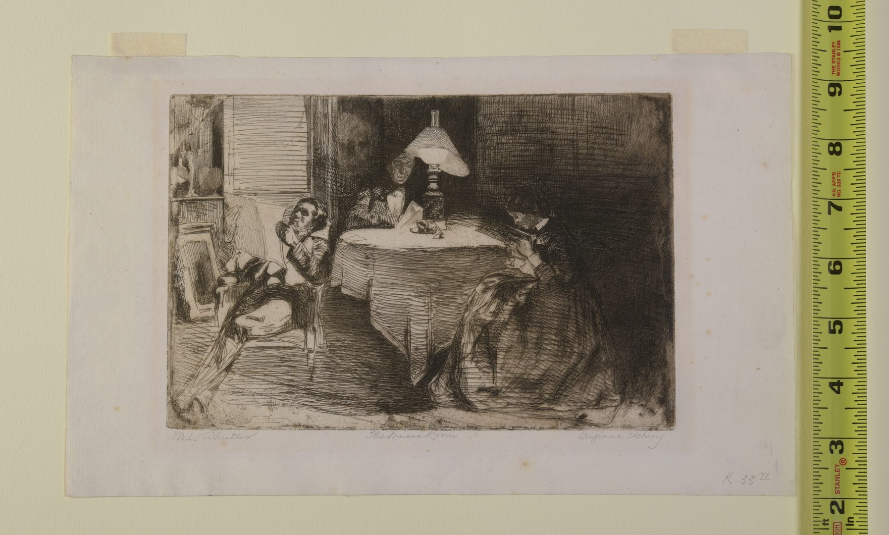 Lot 185: James M. Whistler Etching, The Music Room