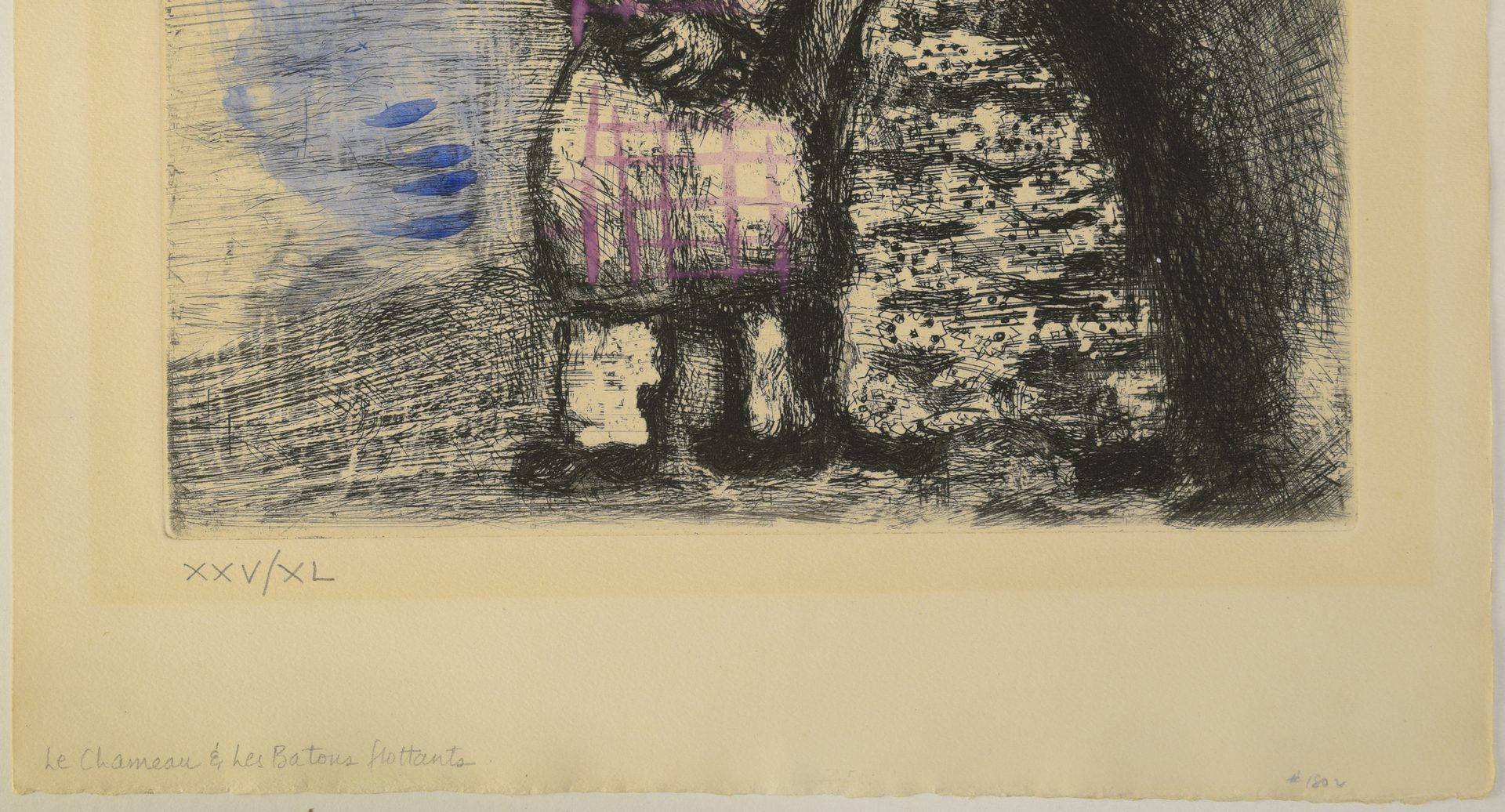 Lot 666: Marc Chagall Colored Etching