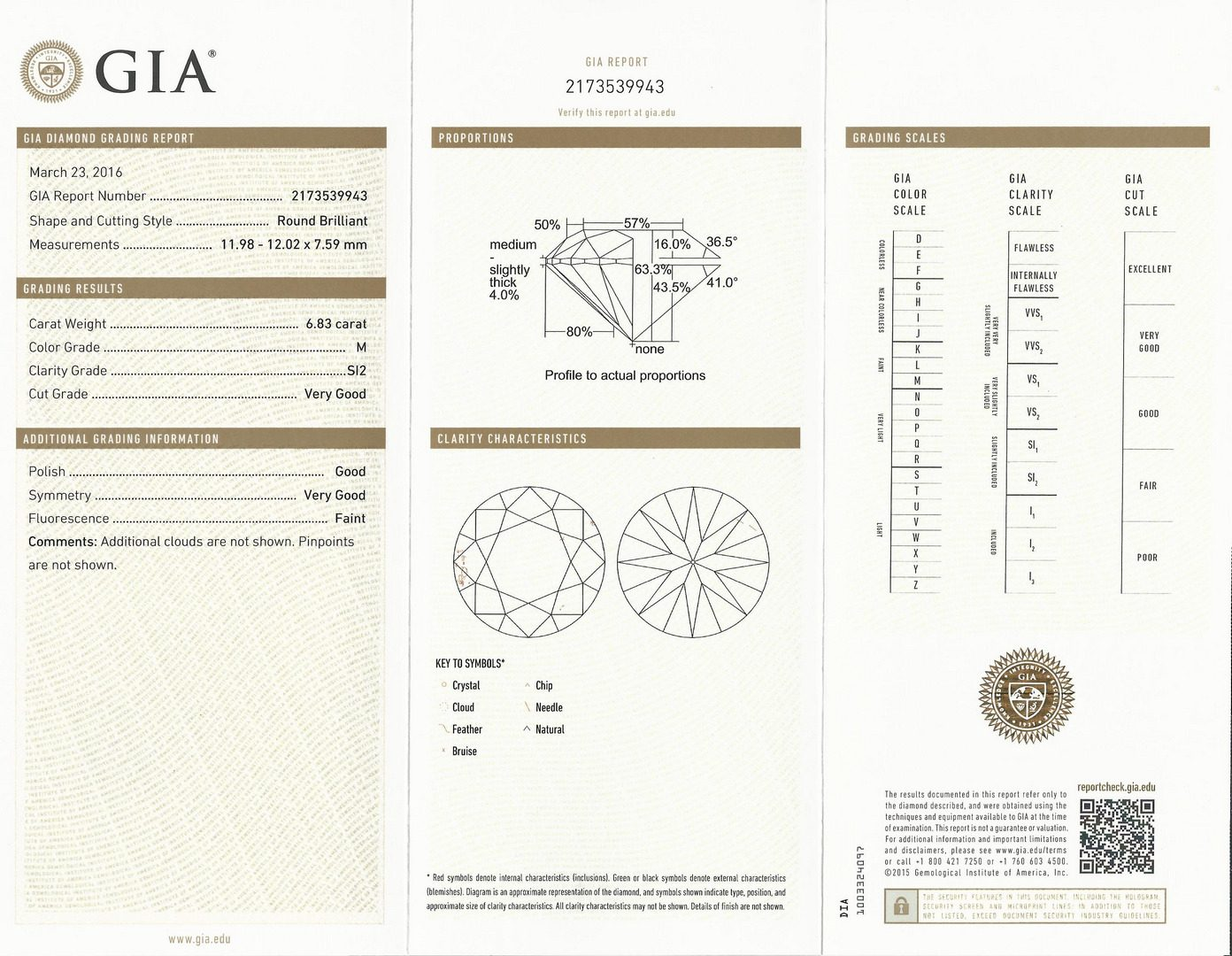 Lot 67: 6.83 ct  Round Brilliant, GIA, plat 3-stone