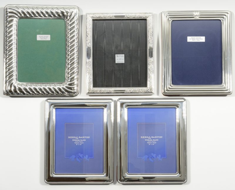 Lot 998: 5 Large Sterling Silver Frames