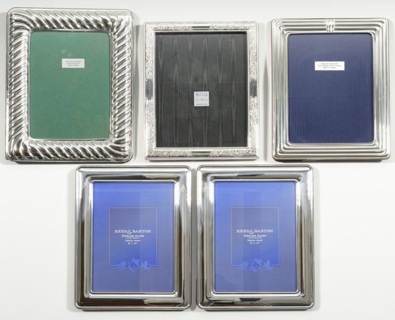 Lot 998: 5 Large Sterling Silver Frames
