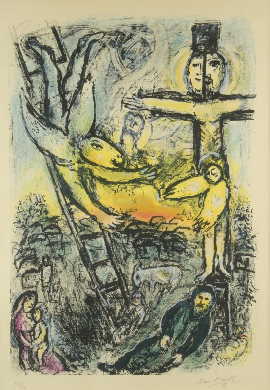 Marc Chagall lithograph, Jacob's Vision