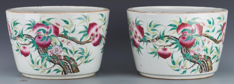 Pair Qing Jardineres
