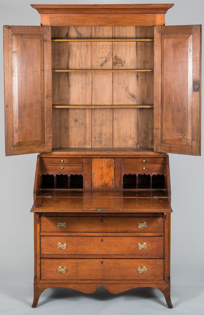 Lot 112: Tennessee Federal Desk and Bookcase
