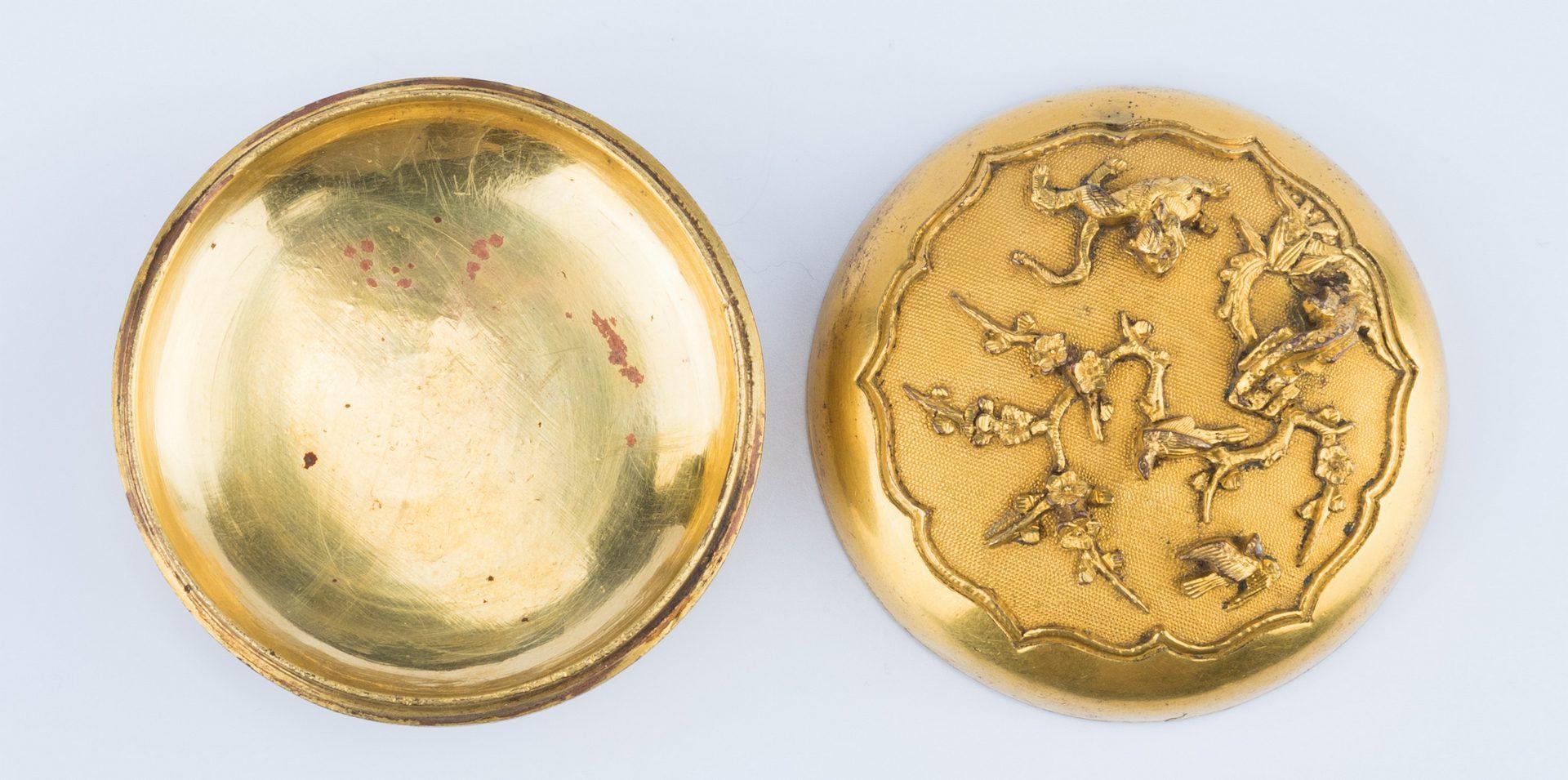 Lot 12: Chinese Gilt Bronze Stamp Ink Box